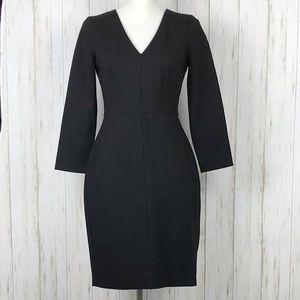 J. Crew Black Sheath Dress.